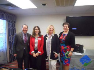 Photo (L-R): Eric Berman (Communications Director, Mass. Assoc. of Realtors), Goretti Joaquim (Business Development Officer, MassHousing), Annie Blatz, (2016 President, Massachusetts Association of REALTORS®) Ann Sherry (Senior VP/ Customer Care & Relationship Development, Charles River Bank)