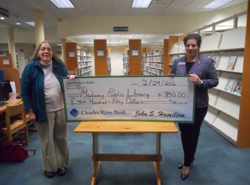 Medway-Public-Library-850-Donation